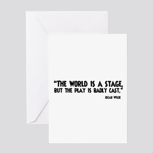 The World Is A Stage Greeting Cards