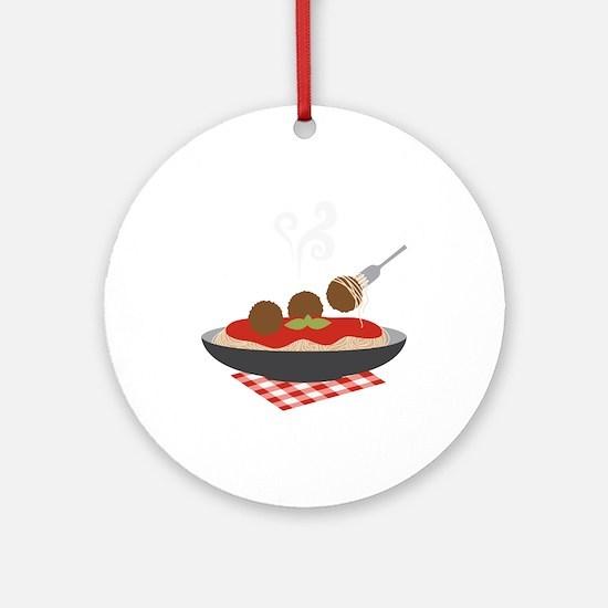 Spaghetti Ornament (Round)