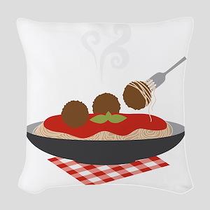 Spaghetti Woven Throw Pillow