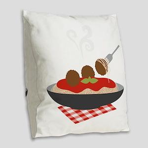 Spaghetti Burlap Throw Pillow