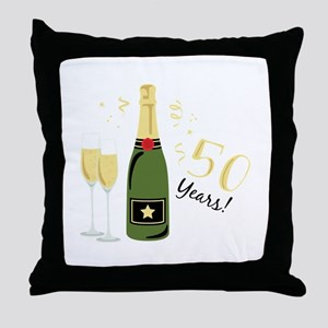 50 Years Throw Pillow