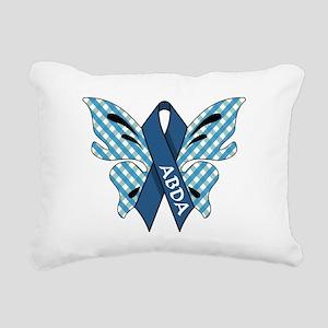 AWARENESS BUTTERFLIES Rectangular Canvas Pillow