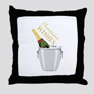 Champagne Wishes Throw Pillow