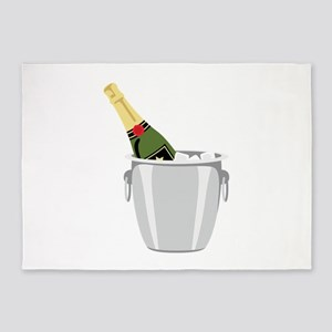 Champagne In Bucket 5'x7'Area Rug