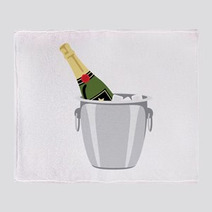 Champagne In Bucket Throw Blanket