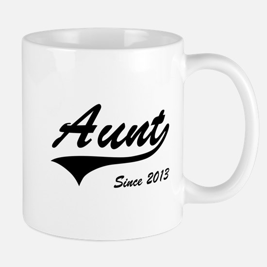 Aunt Since 2013 Mugs