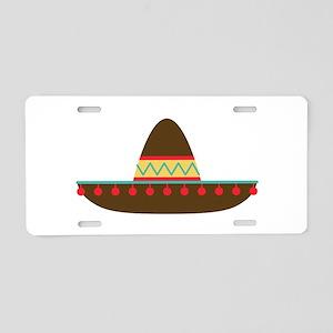 Sombrero Aluminum License Plate