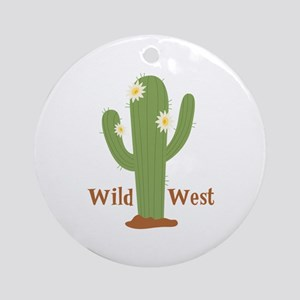 Wild West Ornament (Round)