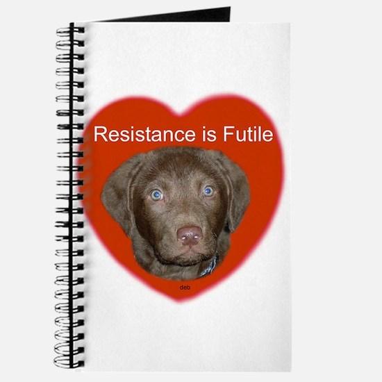 Chessie puppy/ heart Journal