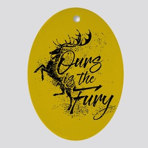 GOT Baratheon Ours Is The Fury Oval Ornament