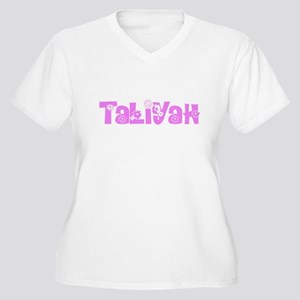 Taliyah Flower Design Plus Size T-Shirt