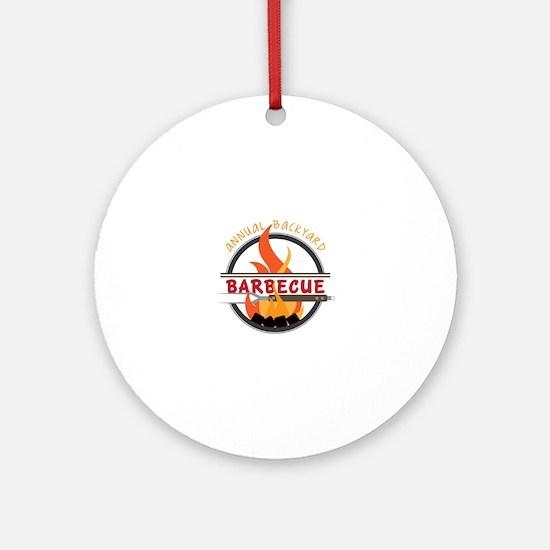 Backyard Barbecue Ornament (Round)