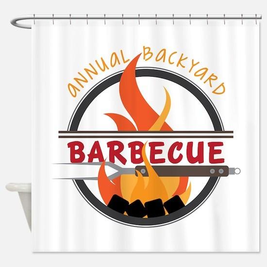 Backyard Barbecue Shower Curtain