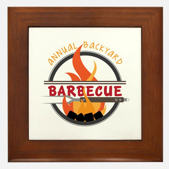 Backyard Barbecue Framed Tile