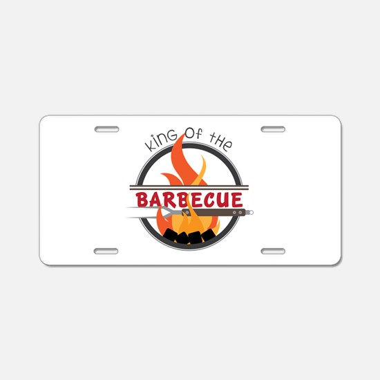 King of Barbecue Aluminum License Plate
