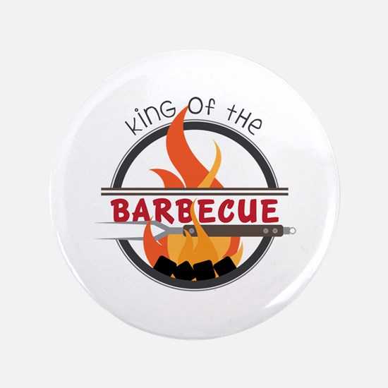 """King of Barbecue 3.5"""" Button (100 pack)"""