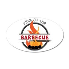 King of Barbecue Wall Decal