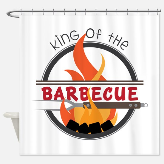 King of Barbecue Shower Curtain