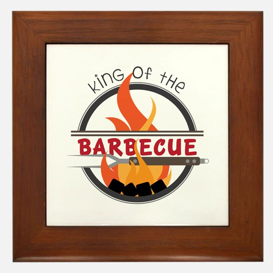 King of Barbecue Framed Tile