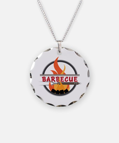 Barbecue Flame Logo Necklace