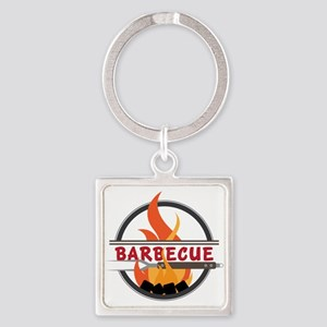 Barbecue Flame Logo Keychains