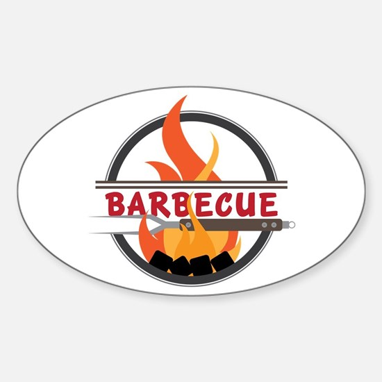 Barbecue Flame Logo Decal