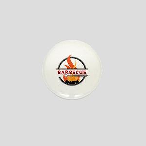 Barbecue Flame Logo Mini Button