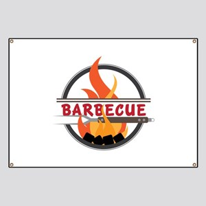 Barbecue Flame Logo Banner