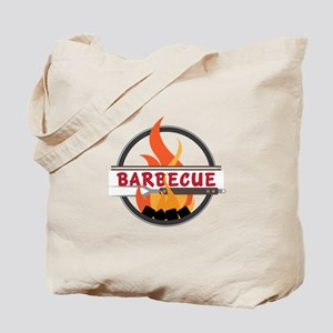 Barbecue Flame Logo Tote Bag