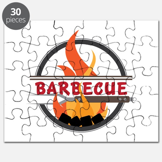 Barbecue Flame Logo Puzzle