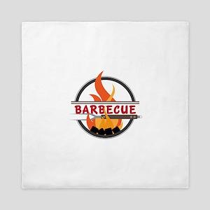 Barbecue Flame Logo Queen Duvet