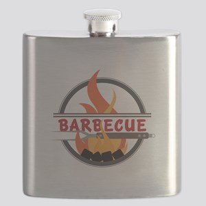 Barbecue Flame Logo Flask