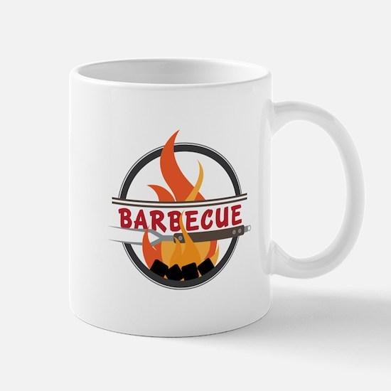 Barbecue Flame Logo Mugs