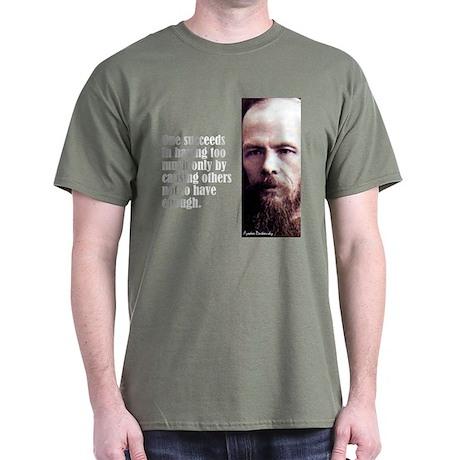 "Dostoevsky ""Succeeds"" Dark T-Shirt"