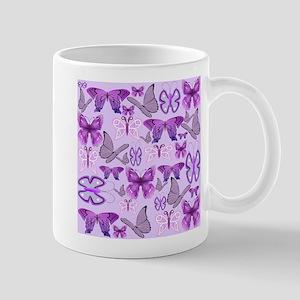 Purple Awareness Butterflies Mugs