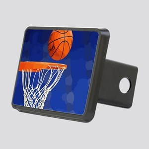 Basketball hoop and ball painting Hitch Cover