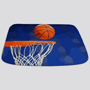 Basketball hoop and ball painting Bathmat