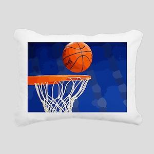 Basketball hoop and ball painting Rectangular Canv