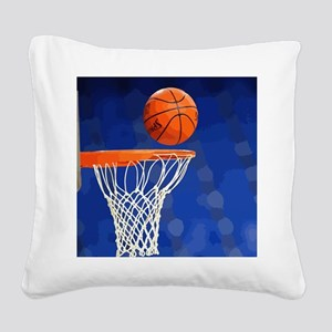 Basketball hoop and ball painting Square Canvas Pi