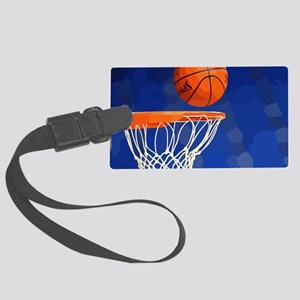 Basketball hoop and ball painting Luggage Tag