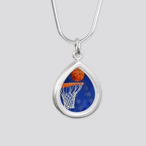 Basketball hoop and ball painting Necklaces