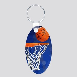 Basketball hoop and ball painting Keychains