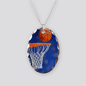 Basketball hoop and ball painting Necklace