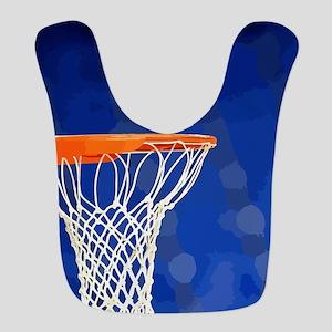 Basketball hoop and ball painting Bib