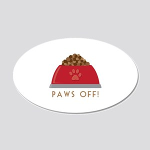 Paws Off Wall Decal