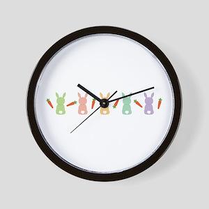 Carrot Bunny Border Wall Clock