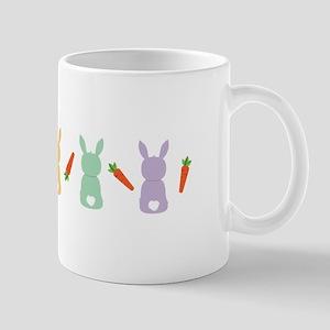 Carrot Bunny Border Mugs