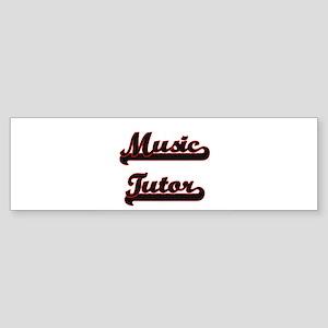 Music Tutor Classic Job Design Bumper Sticker