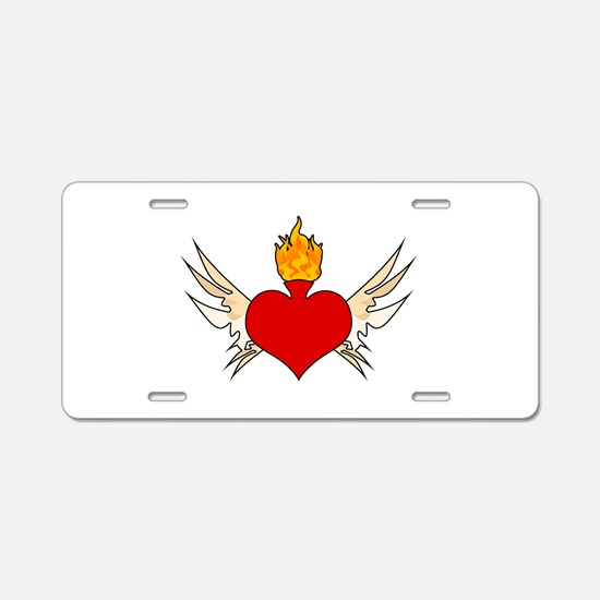 sagrado corazón Aluminum License Plate
