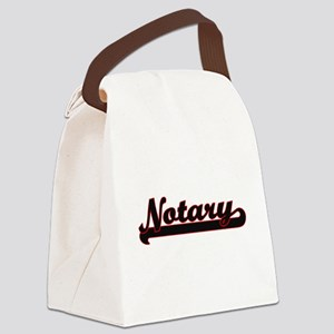 Notary Classic Job Design Canvas Lunch Bag
